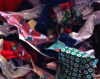 Fabric Scraps, Grab Bag of Fabric, 1/2 Pound Fabric Scraps, Fabric Remnants, Left Over Fabric, Scrap Quilt Pieces