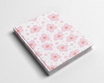 Journal or Spiral Notebook | Just Pink Hard Cover Journal or Wire Bound Notebook | School Notebook | Spiral Notebook for Kids