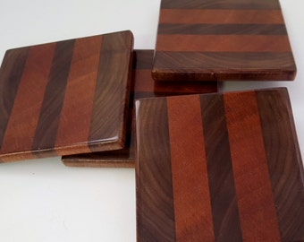 Wood Coaster set of four - End Grain (OP104-5)
