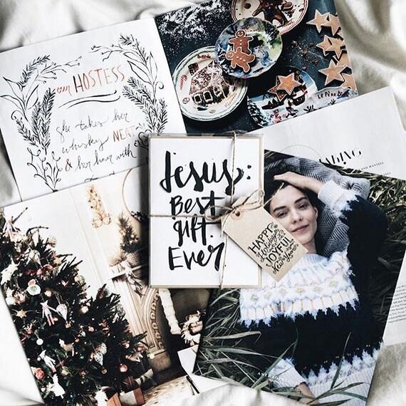 Christian card, religious, Jesus: Best Gift Ever, simple and elegant design, brush script