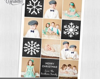 Chalkboard Holiday Photo Card - Personalized Christmas Photo Card