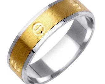 Carved Design handmade Wedding Ring