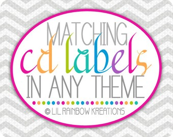 ADD ON: Cd Label To Match Your Theme