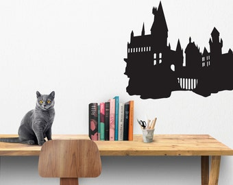 Harry Potter Hogwarts Silhouette Wall Decal - HP Wall Decal - Hogwarts School Of Witchcraft and Wizardry