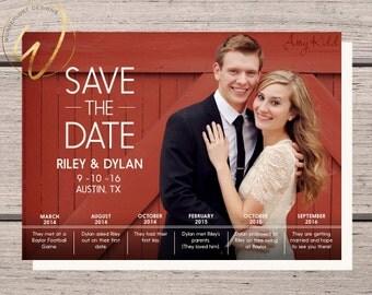 Relationship Timeline | SAVE THE DATE | Printable Digital Download