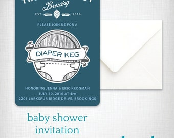 Baby Shower Invitation: Diaper Keg