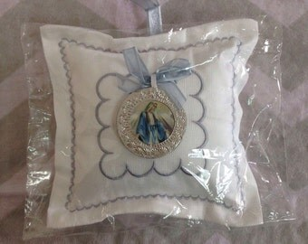 Silver Medallion pillow