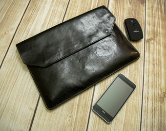 """Leather case for MacBook Air 13"""". Case for MacBook. Leather case"""