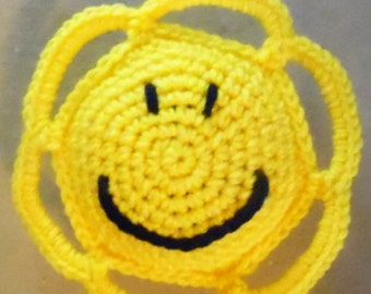 Smile Face Crochet Baby Toy