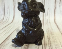 Chocolate Bunny, Ceramic Bunny, Kitschy, Animal Figurine, Collectible, Easter Décor, Bunny, Rabbit, Thumper