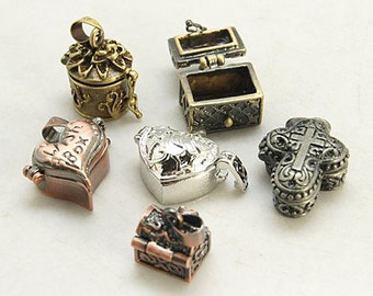 Prayer Box Locket Wish Box Meditation Box Pandorra's Box Small Box Pendant