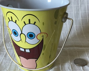 Free Shipping* Handpressed Spongebob Trick or Treat Candy Bucket