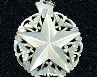 Vintage Mother of Pearl Star Pendant