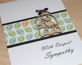 Sympathy card - Bereavement greeting card - handmade greeting card