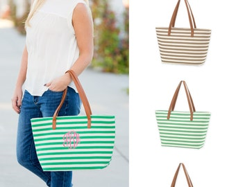 Mongrammed Charlotte Stripe Purse in Three Tending Colors!