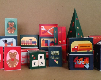 Toy Boxes - Advent Calendar - Printable PDF File - A4