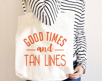 Beach Tote - Summer Travel Bag - Canvas Beach Tote Bag -