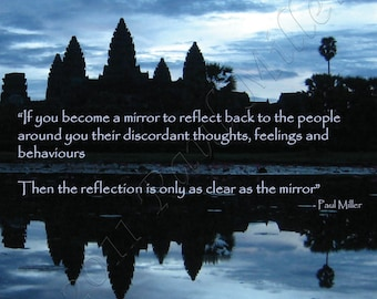 Becoming a Mirror  Greeting card