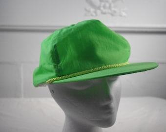 Vintage neon green snapback