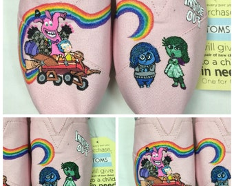 Custom Painted Inside Out Toms