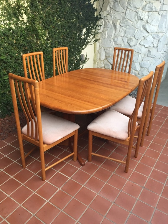 Items similar to vintage mid century dining room table and for Dining room tables etsy