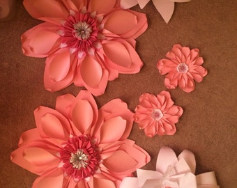 Giant Paper Flowers - set of 6