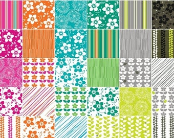 "Briditte by Benartex 42 5"" Squares Charm Packs 100% Designer Cotton by Michele D'Amore BRDGPK"