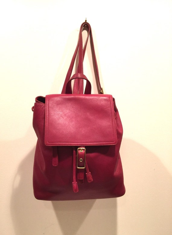 coach legacy west cherry red leather purse backpack sling bag