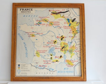 Vintage French double sided Rossignol school poster - France