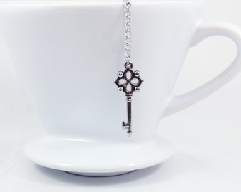 Loose Tea Infuser Tea Strainer Mesh Ball Key Pendant Loose Leaf Tea