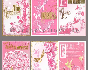Fairies in pink Tags
