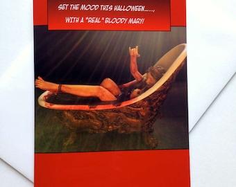 Bloody Halloween Card - Gory Halloween Card - Creepy Halloween Card - Scary Halloween Card - Gruesome Halloween Card