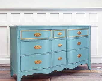 SOLD - Turquoise Dresser - SOLD