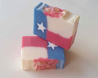 Texas Flag Soap