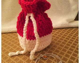 Crochet Drawstring Pouch