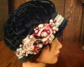 Cloche Tam Flapper 20's Style Hat