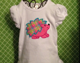 Applique embroidered shirt