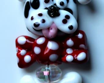 Crazy Dog Focal Glass bead