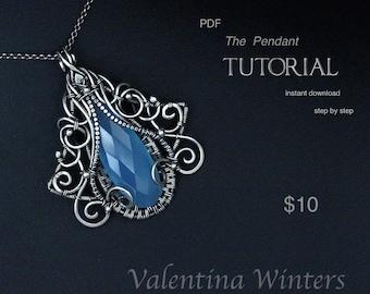 TUTORIAL - Pendant tutorial - Jewelry Tutorial  - Wire Jewelry Tutorial - Wrapping Tutorial - step by step - 3-D Layer jewelry Tutorial