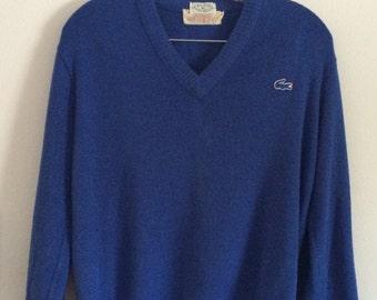 Vintage IZOD Lacoste Blue Sweater Alligator Logo