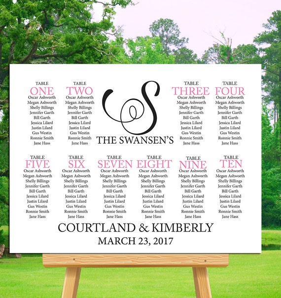 ... Chart, Seating Chart Poster, Seating Chart Template, Wedding Reception
