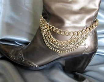 Boot Anklet, Boot Jewelry, Chains, Shoe Chains, Shoe Jewelry