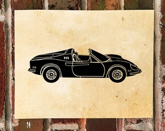 KillerBeeMoto: Limited Print Vintage Italian Sports Car Automotive Print Print 1 of 50