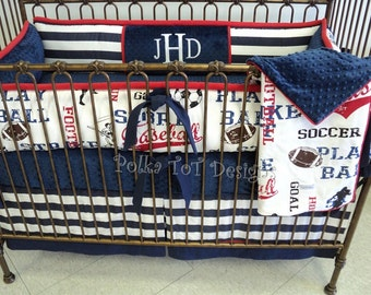 Sports Baby Bedding: Joshua