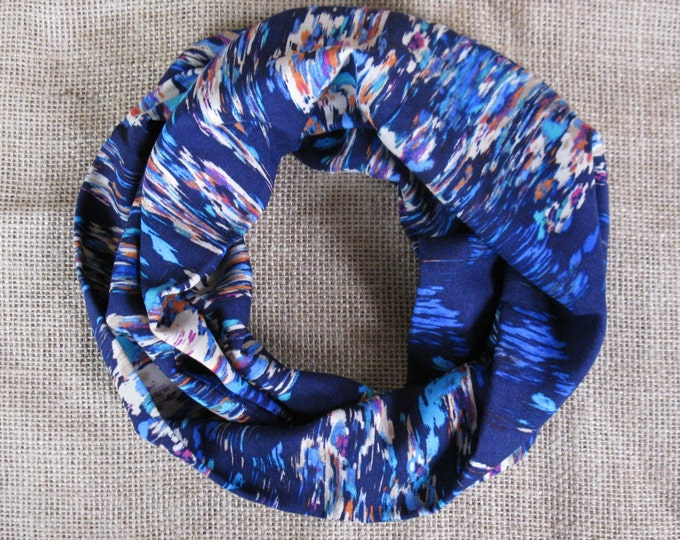 Infinity Scarf All Cotton High End Abstract Print