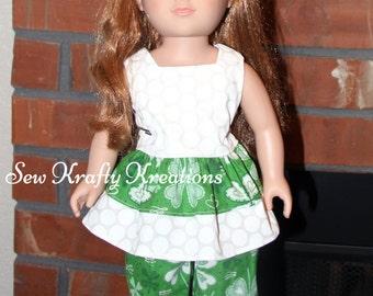 """St.Patricks's day inspired Set for 18"""" doll like American Girl"""