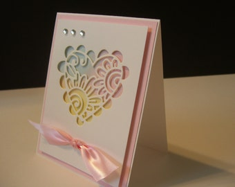 Heart Card  --Fun Stampers Journey