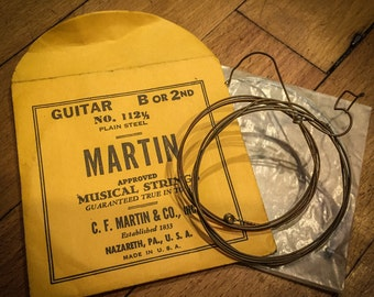 1930's Martin Guitar String Bracelet from vintage guitar strings