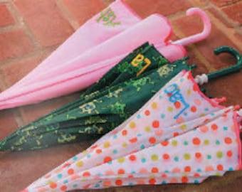 Children's Personalized Umbrellas*Frogs*Dots*Pink*Rain Gear*Personalized Umbrellas*
