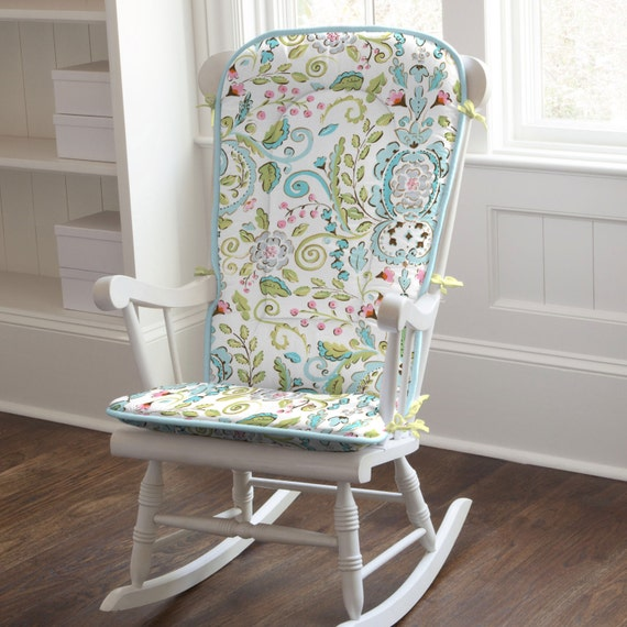 Bebe jardin rocking chair pad by carousel designs - Rocking chair jardin ...
